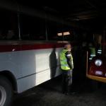 Garragebesök för att kolla in bussen.