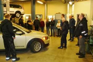 NMH Lycksele besöker fordonsprogrammet på Tannbergsskolan.